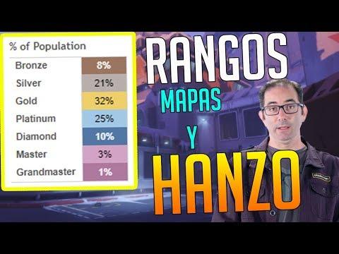 OVERWATCH: ¿HAY MÁS BRONCE o DIAMANTE? Rework HANZO + MAPAS