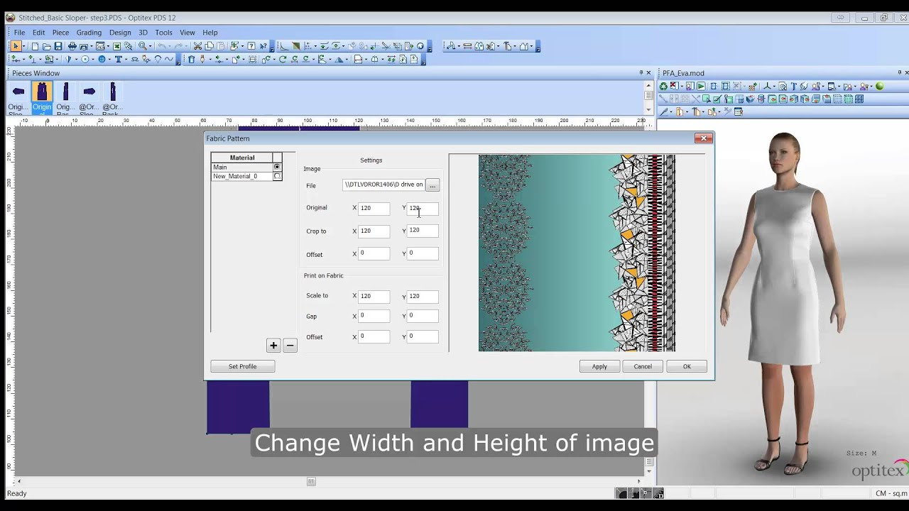 Optitex Tutorial - Creating a Printed Fabric Virtual Sample