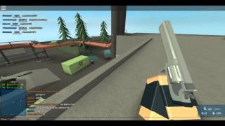 ROBLOX-Phantom forces-bombs shots and chaos and defeat.-. and Little Buddy:D