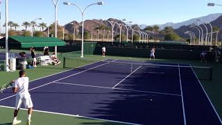 Jo Wilfried Tsonga and Richard Gasquet Indian Wells BNP Paribas Open Practice 3/5/13 #1/2