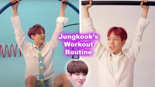 I tried BTS Jungkook's WORKOUT Routine *omg*