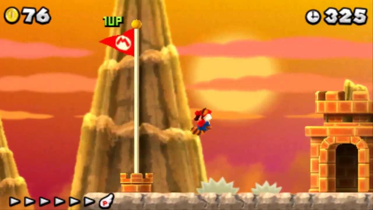 New Super Mario Bros  2 - 100% Walkthrough - Flower World (All Star Coins &  Secret Exits)