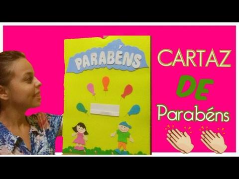 CARTAZ DE PARABÉNS PARA A E.B.D | Gabriele Rios #dicas de decoração para a classe da E.B.D
