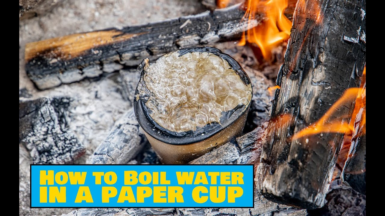 How to Boil Water in a Paper Cup – Vee keetmine pabertopsis - Easy Outdoors Cooking
