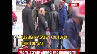 Zabıta - Seyyar kavgası karakolda bitti!