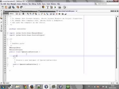 Application JEE - Compte/opération Part 1