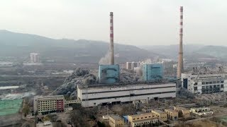 China demolishes thermal power plant