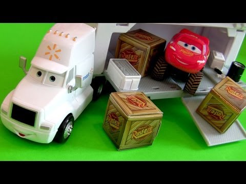 Wally Hauler Walmart Truck From Cars Disney Pixar London Figure Mattel Exclusive