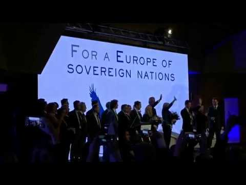 "Geert Wilders, Marine Le Pen, Tomio Okamura - meeting ""For a Europe of sovereign nations"""