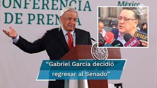 Sobre la salida de Gabriel García como jefe de superdelegados, el presidente afirma que es un profesional, con convicciones y precursor de la 4T, confirmó que será sustituido con Carlos Torres, quien es secretario técnico de la presidencia