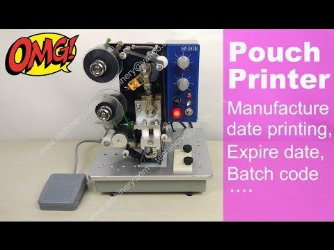 Color Ribbon Hot Printer Manufacture Date Batch Code Printing Machine How To Operate Coding Machine