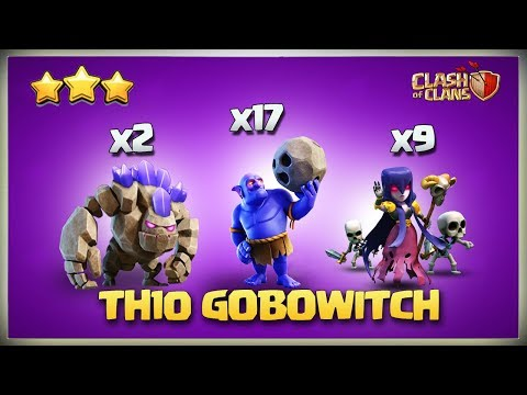 How To BoWitch - GoBoWitch | Best New TH10 3 Star Attack | TH10 War Strategy Clash Of Clans