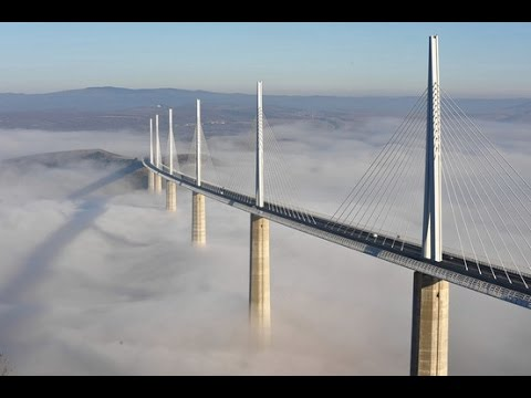 The Tallest Cable-Stayed Bridge in the World - Millau Bridge