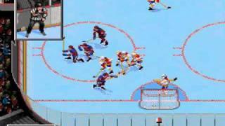 NHL 97 (Sega Genesis) Demo Gameplay (1st Period)