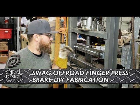 SWAG OFFROAD DIY FINGER PRESS BRAKE FABRICATION