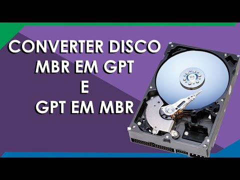 Converter MBR para GPT e GPT para MBR