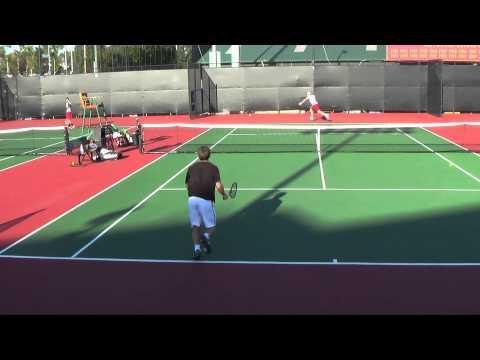 01 04 2015 Tom Fawcett (Stanford)  & Frederik Nielsen practice match at USC 1080 AVCHD