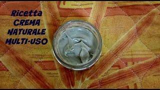 Ricetta CREMA NATURALE MULTI USO (facile)(Ecco a voi una cold cream modificata semplice da realizzare adatta per moltissime esigenze in caso di pelle secca, acne, disturbi cutanei (come psoriasi, ..., 2015-12-30T15:29:39.000Z)
