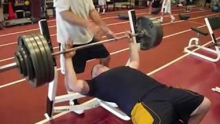 Jake Zuzek Navy Football 500lb Bench Press