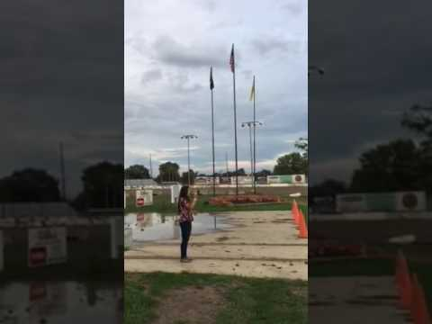 Anna Scott sings our National Anthem at Fremont Speedway