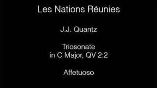 Les Nations Réunies: J.J. Quantz, Affetuoso