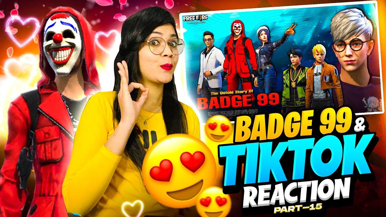 Badge99 New Shayri & Free Fire Tik Tok Reaction #part15 | Garena Free Fire | Bindass Laila | Badge99