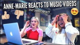 ANNE-MARIE REACTS TO MUSIC VIDEOS🔥