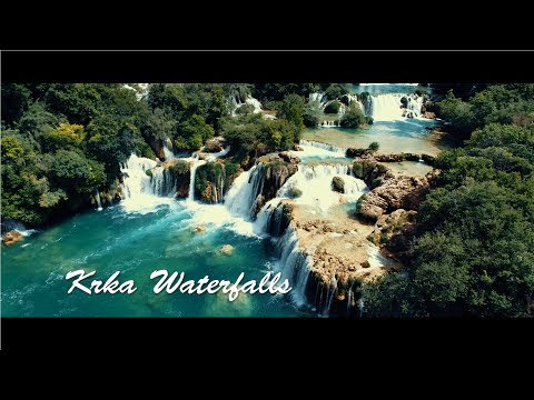 Croatia - Krka Waterfalls (Aerial view)