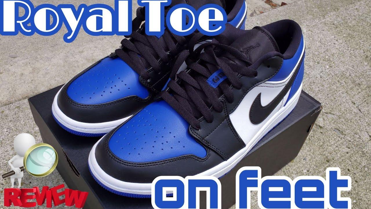Jordan 1 Low Royal Toe Review + On Feet