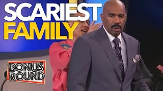 SCARIEST FAMILY STEVE HARVEY EVER MET On Family Feud USA!