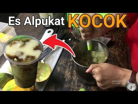 PAKAI GULA AREN DAN DIKOCOK! CARA BARU MENIKMATI ALPUKAT! l INDONESIA STREET FOOD
