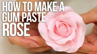 How to Make a Large Rose from Gum Paste | Cake Tutorials
