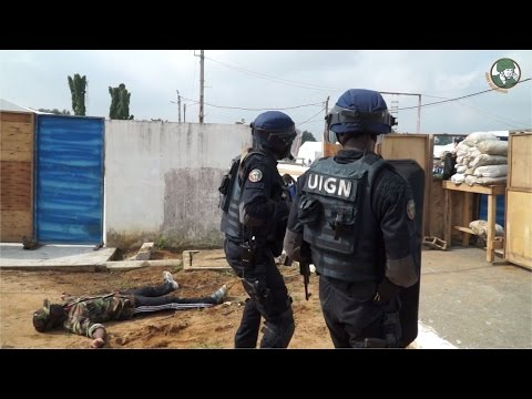 UIGN FRAP SWAT Team Côte d'Ivoire live demo ShieldAfrica 2017 Show Daily News Video TV Day 3