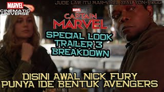 Disini Awal Nick Fury Punya Ide Membentuk Avengers | Captain Marvel Special Look Trailer 3 Breakdown