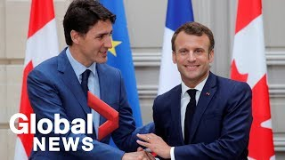 Justin Trudeau, Emmanuel Macron hold joint press conference | FULL