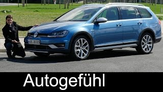 VW Volkswagen Golf Alltrack FULL REVIEW test driven SportWagen crossover Variant Kombi new neu