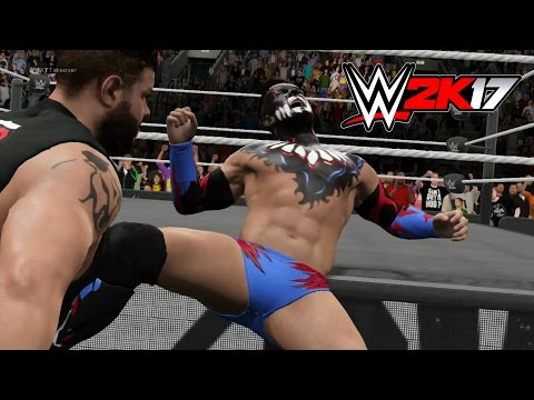 WWE 2K17 - KEVIN OWENS POP UP POWERBOMB COMPILATION!