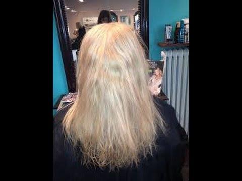 torrt hår kokosolja