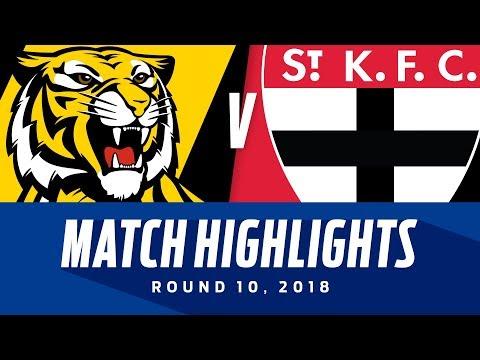 Match Highlights: Richmond v St Kilda   Round 10, 2018   AFL