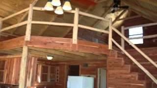 Rustic Cedar Cabin Loft Cabins.flv