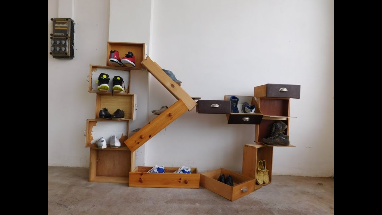 Design Garderobe, shoe rack, Schuhregal, Regal aus ...