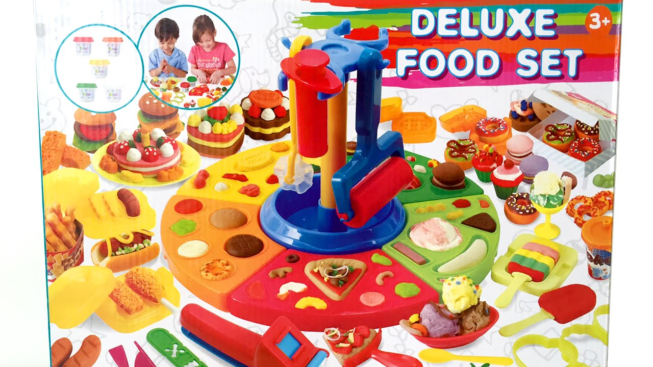 Deluxe food set cooking machine play doh toy food diy make for Play doh cuisine