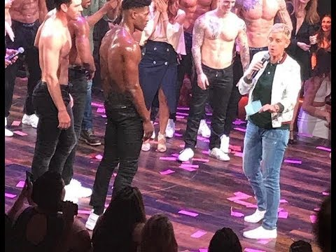 Ellen Degeneres, Channing Tatum & Stephen tWitch Boss at Magic Mike Live