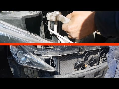 how to remove ac radiator hyundai sonata removing the. Black Bedroom Furniture Sets. Home Design Ideas