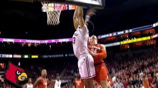 Louisville's Jordan Nwora Dunks Hard And Gets The Foul vs. Clemson