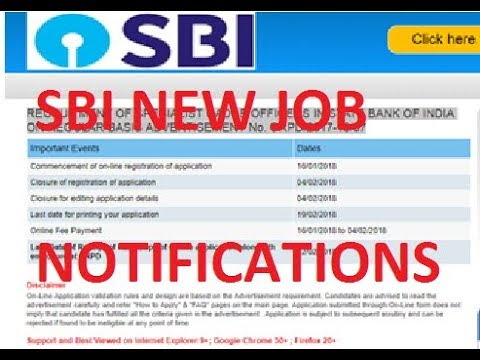 sbi recruitment 2018 apply online for 121 specialist cadre officer - Online Advertising Specialist