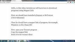Download Torrent with Magnet Link using BitTorrent/uTorrent