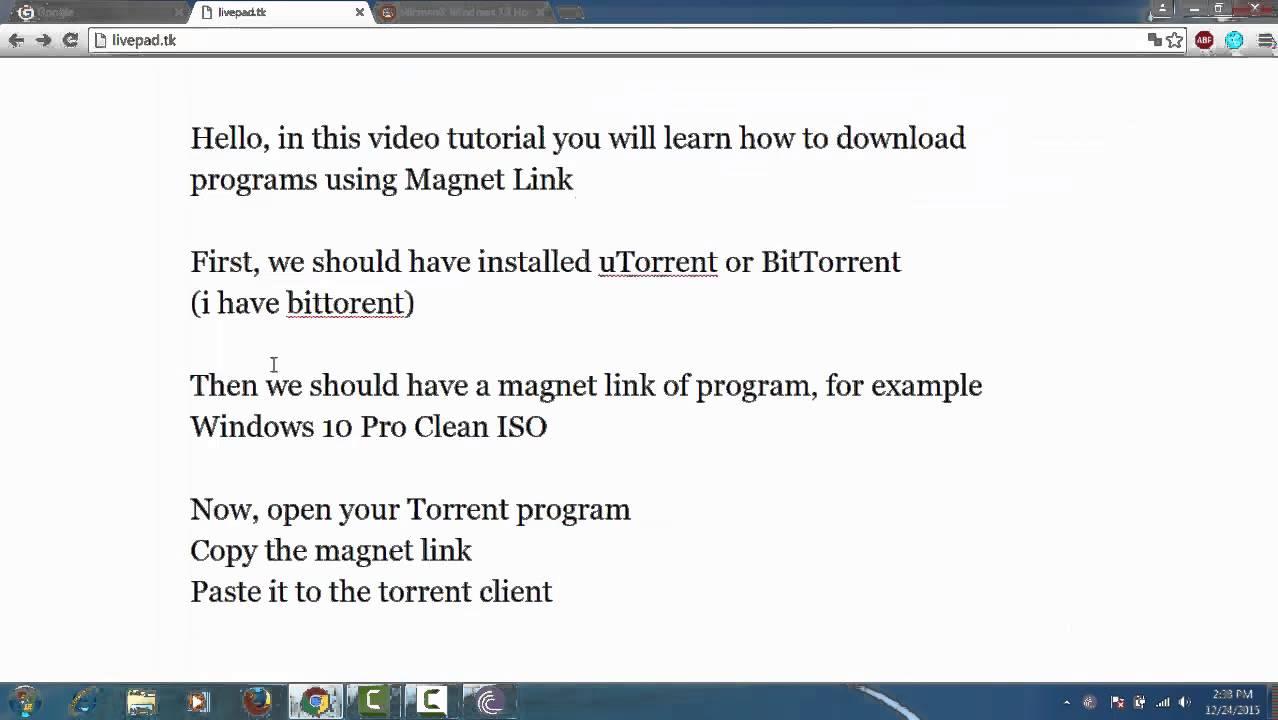 magnet torrent windows 10
