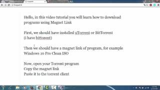 Download Torrent with Magnet Link using BitTorrent/uTorrent