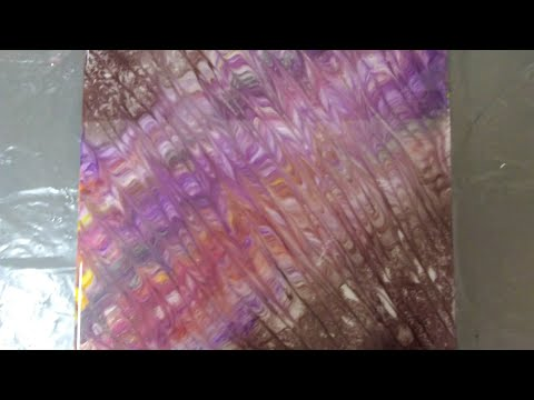 Tutorial 70s Psychedelic Brain Warp Pour.  Resin art by